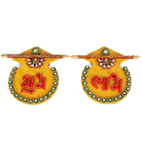 Kundan Craft Matki Shaped Shubh Labh Door Toran Online