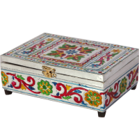 Meenakari Painting Handicrafts Velvet Jewellery Box
