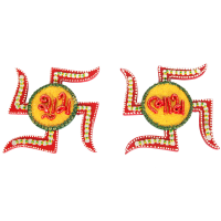 Swastik Shaped Shubh Labh Door Toran Kundan Crafted Online